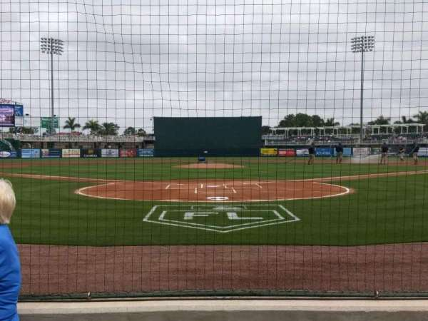 Hammond Stadium at CenturyLink Sports Complex, section: 107, rangée: 1, siège: 6