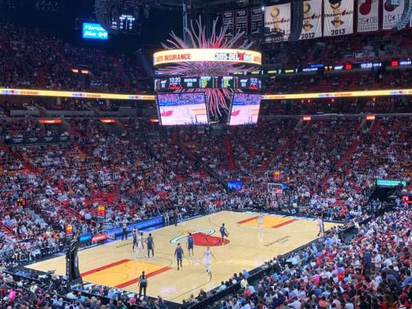 American Airlines Arena, section: 122, rangée: 34, siège: 10