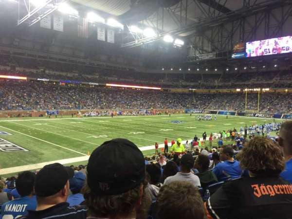 Ford Field, section: 101, rangée: 19, siège: 7