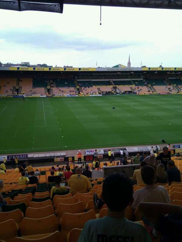 Carrow Road, section: M