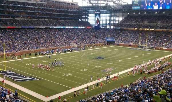Ford Field, section: 223, rangée: 8