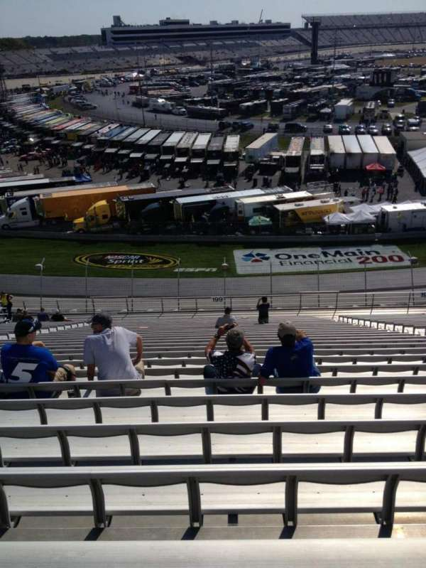 Dover International Speedway, section: 199, rangée: 29, siège: 8