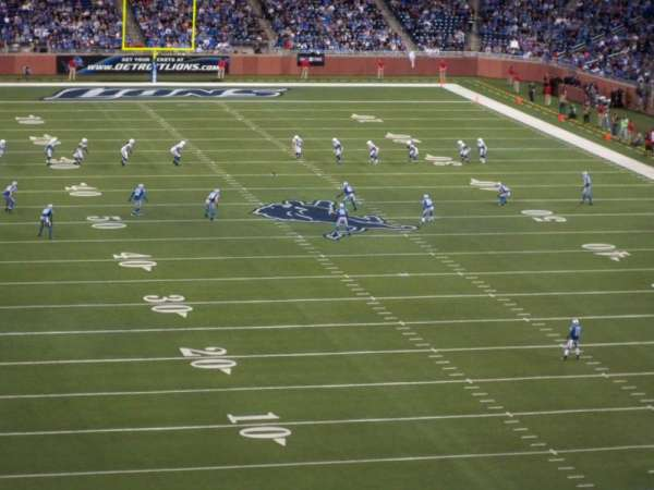 Ford Field, section: 342, rangée: 2, siège: 17