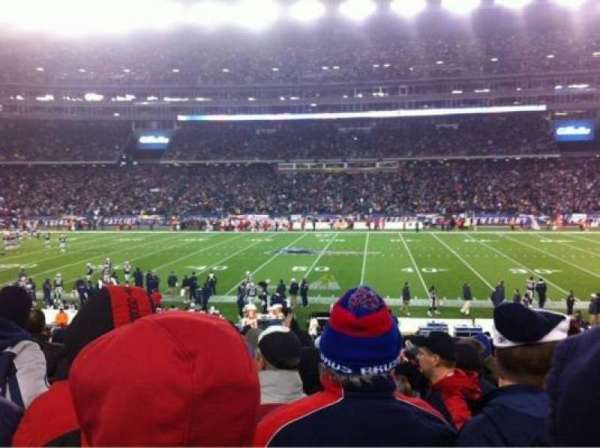 Gillette Stadium, section: 109, rangée: 21, siège: 1