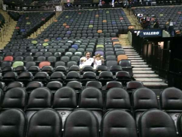AT&T Center, section: 128, rangée: 6, siège: 8 and 9