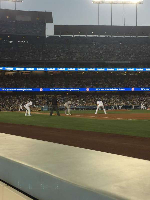 Dodger Stadium, section: 32BL, rangée: 1, siège: 7-8