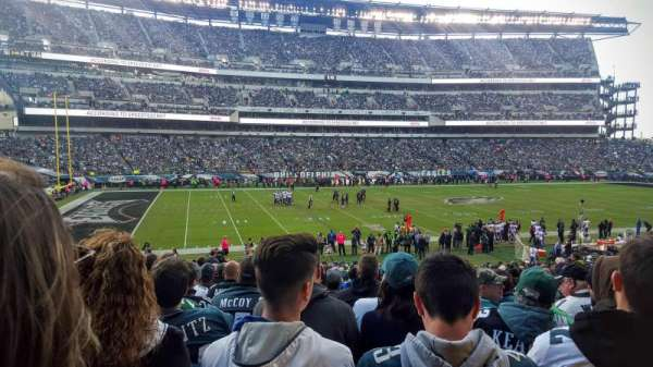 Lincoln Financial Field, section: 117, rangée: 29, siège: 18