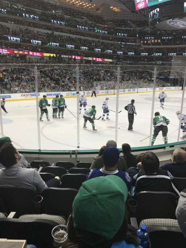 American Airlines Center, section: 122, rangée: G, siège: 8