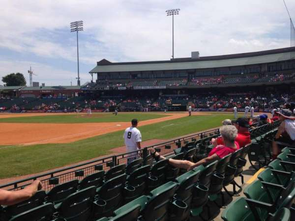 Louisville Slugger Field, section: 122, rangée: E, siège: 10
