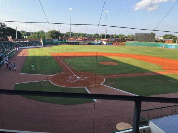 Bowling Green Ballpark, section: 205, rangée: A, siège: 3,4