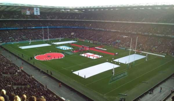 Twickenham Stadium, section: EAST UPPER, rangée: H, siège: 44