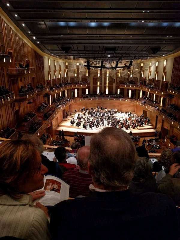 The Music Center at Strathmore, section: Grand Tier, rangée: E, siège: 119