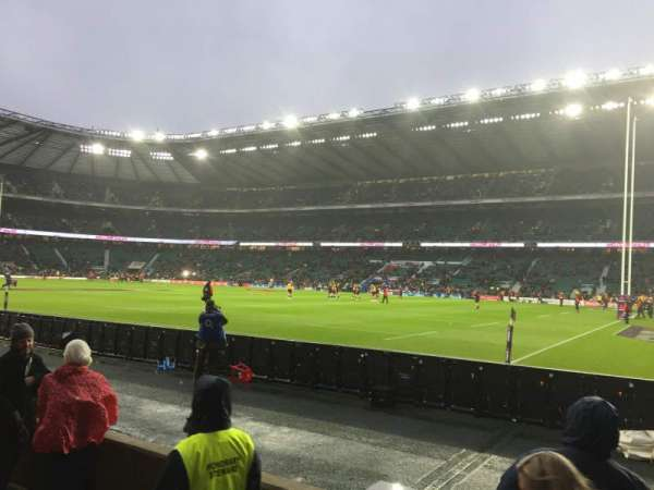 Twickenham Stadium, section: L21, rangée: 3, siège: 93
