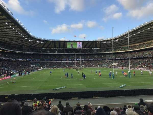 Twickenham Stadium, section: L35, rangée: 18, siège: 207