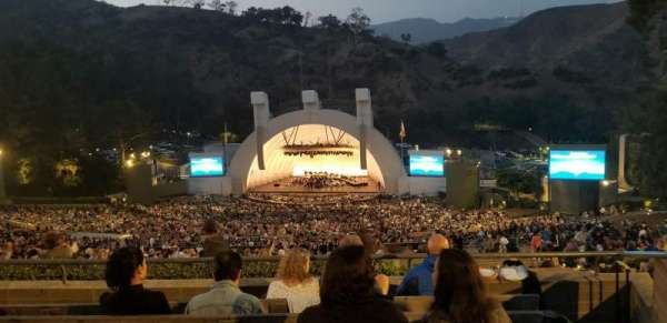 Hollywood Bowl, section: R, rangée: 6, siège: 38