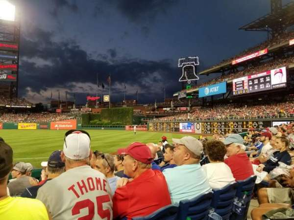 Citizens Bank Park, section: 111, rangée: 7