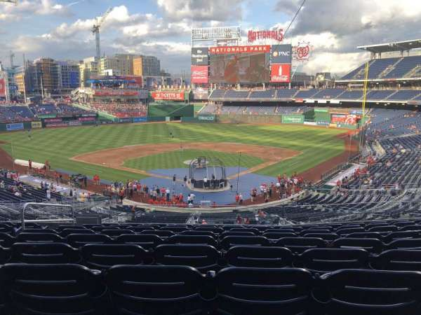 Nationals Park, section: 213, rangée: J, siège: 13
