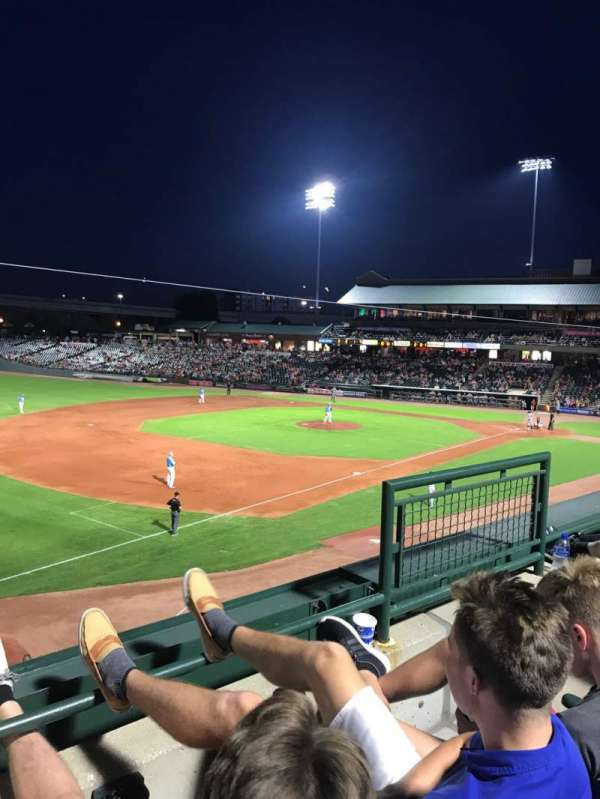 Louisville Slugger Field, section: 224, rangée: B, siège: 4