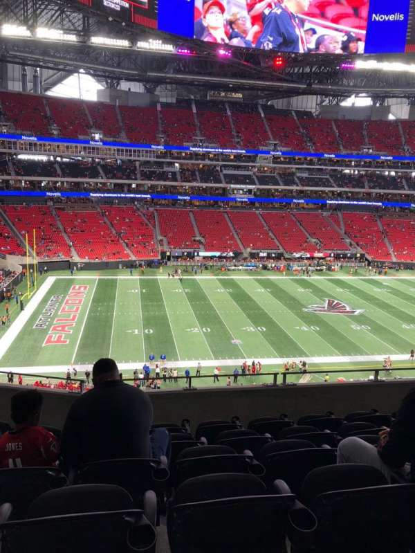 Mercedes-Benz Stadium, section: 215, rangée: 6, siège: 9