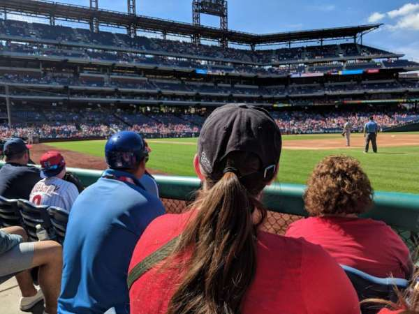 Citizens Bank Park, section: 112, rangée: 3, siège: 17
