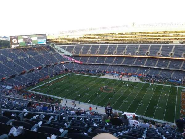 Soldier Field, section: 433, rangée: 36, siège: 6