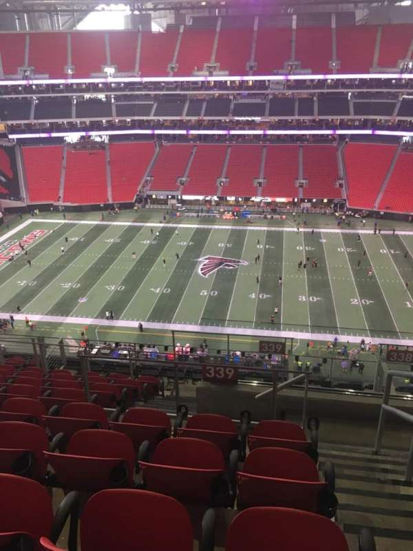 Mercedes-Benz Stadium, section: 339, rangée: 12, siège: 1