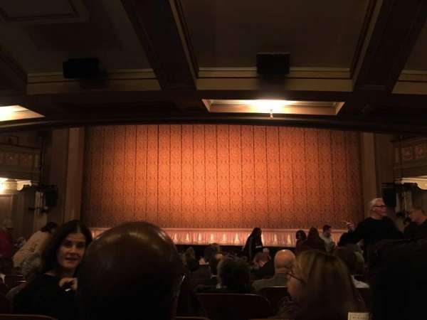Booth Theatre, section: Orchestra C, rangée: O, siège: 115