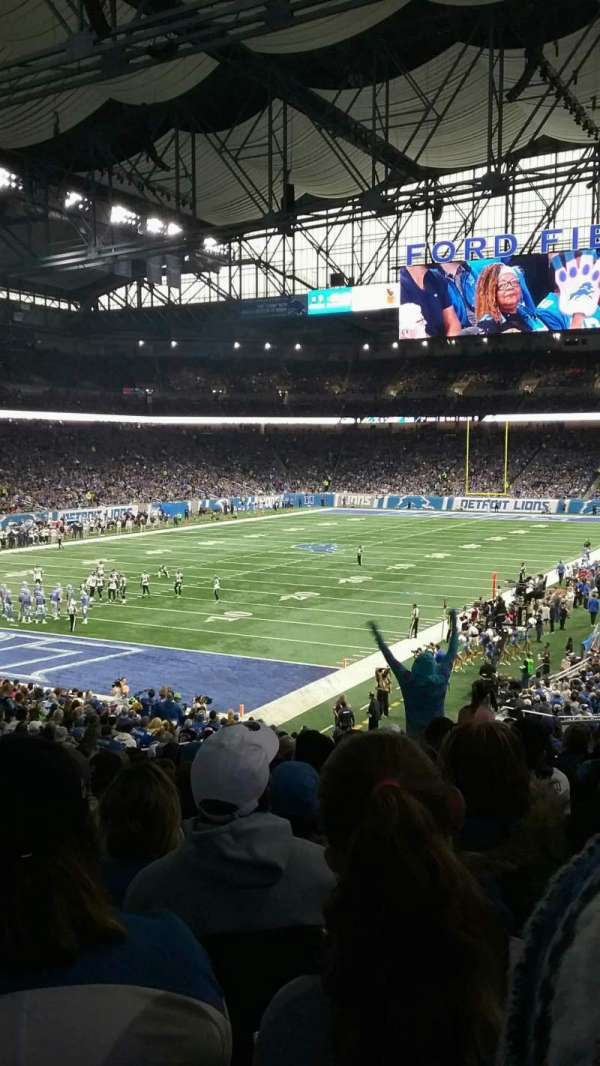Ford Field, section: 141, rangée: 33, siège: 9