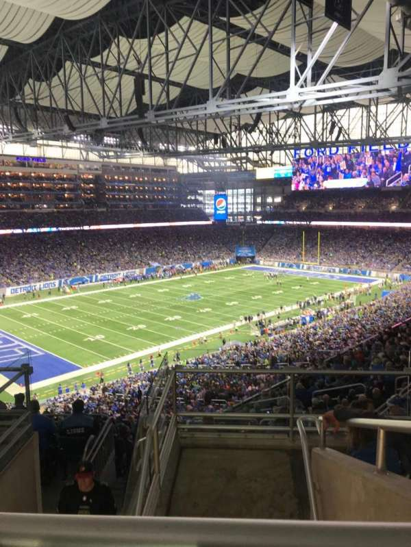 Ford field , section: 325, rangée: 6, siège: 8