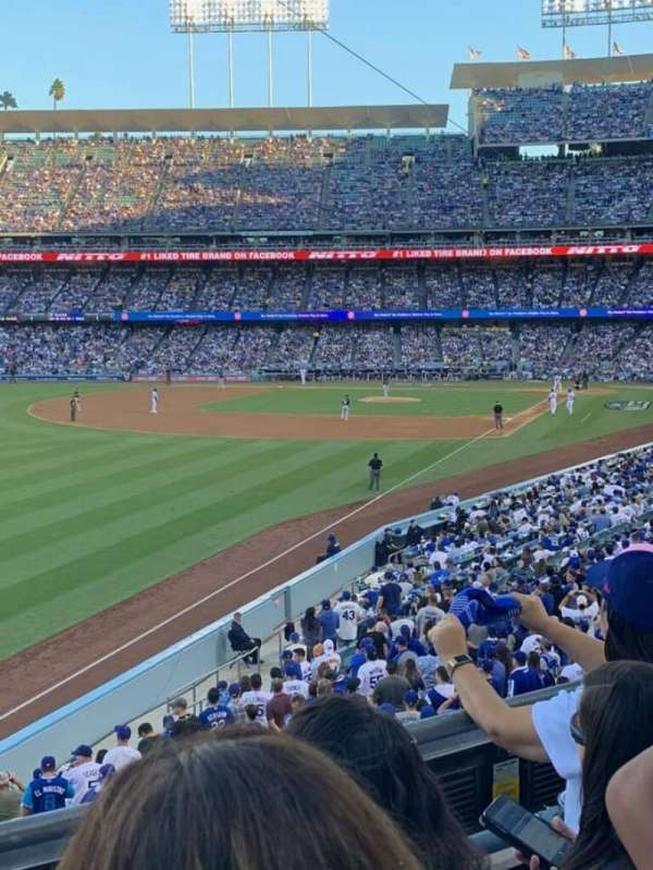 Dodger Stadium, section: 161LG, rangée: C, siège: 6