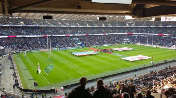 Twickenham Stadium, section: M38, rangée: 72, siège: 406