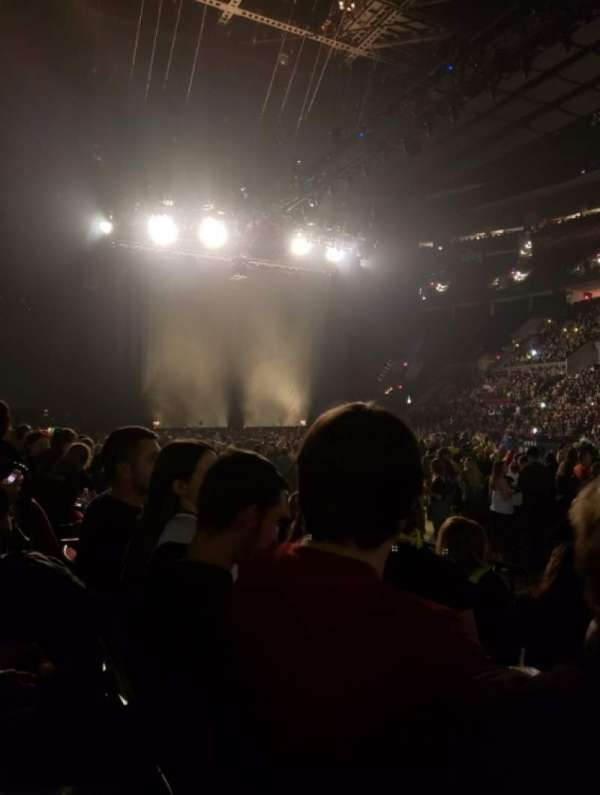 Moda Center, section: 121, rangée: D, siège: 11