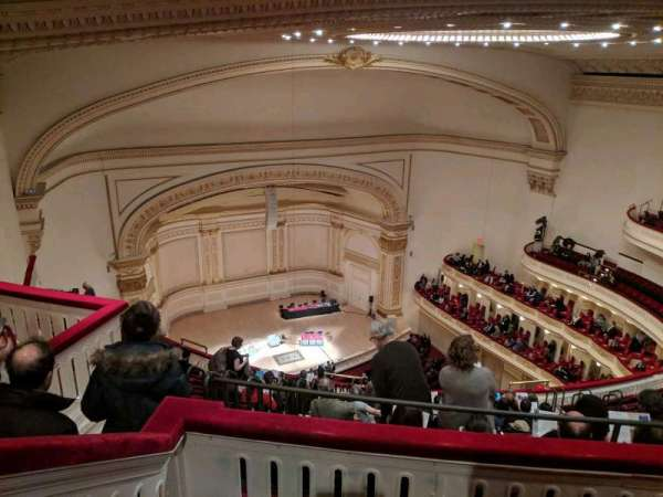 Carnegie Hall, section: Upper Balcony L, rangée: N, siège: 47