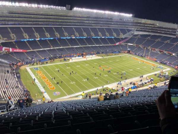 Soldier Field, section: 443, rangée: 34, siège: 7