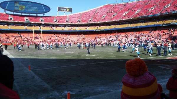 Arrowhead Stadium, section: 113, rangée: 2, siège: 6