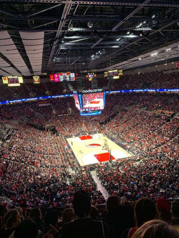 Moda Center, section: 311, rangée: G, siège: 6