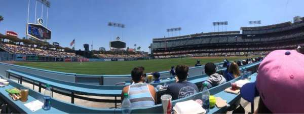 Dodger Stadium, section: 45BL, rangée: CC, siège: 4