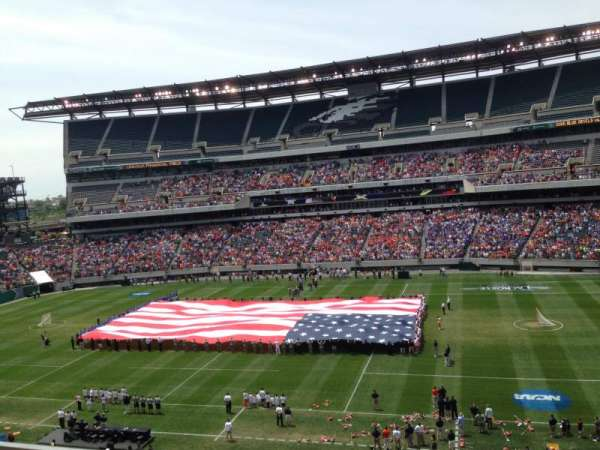 Lincoln Financial Field, section: C23, rangée: 16, siège: 20