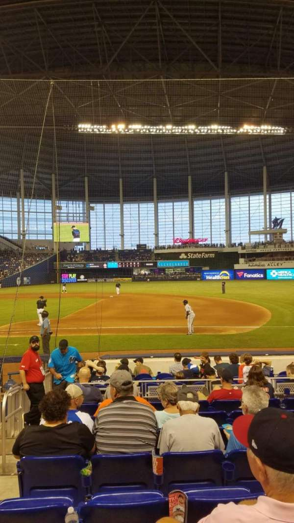 Marlins Park, section: 7, rangée: H, siège: 21