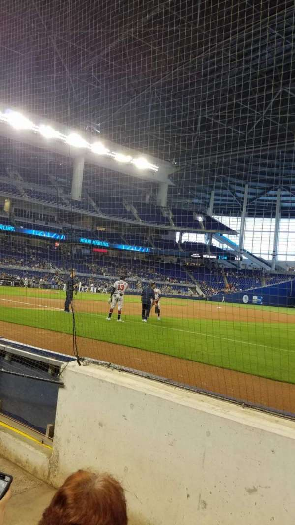 Marlins Park, section: FL1, rangée: BB, siège: 8