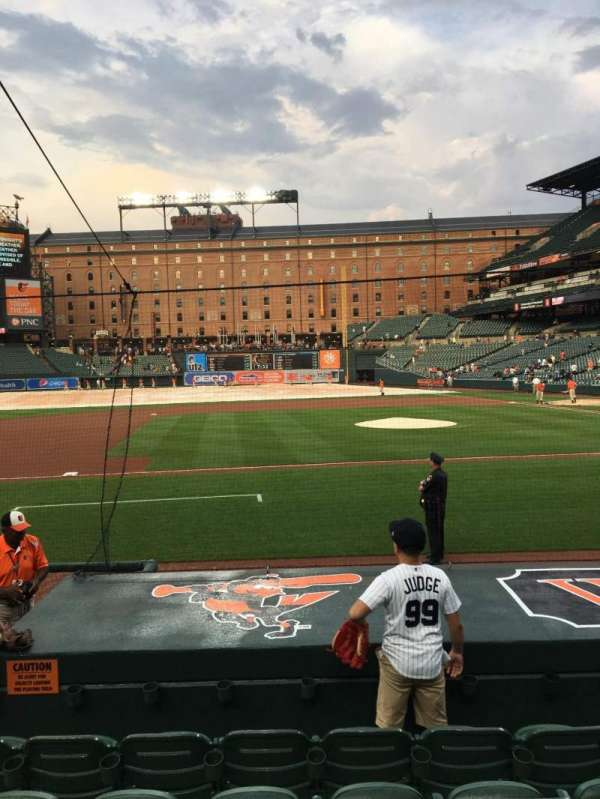 Oriole Park at Camden Yards, section: 52, rangée: 6, siège: 10