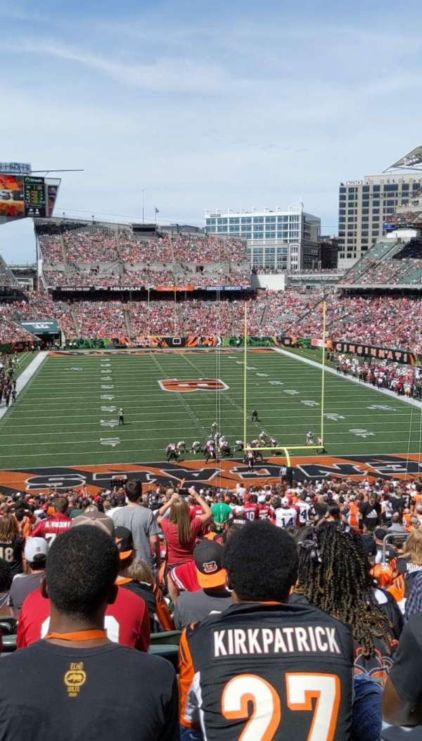 Paul Brown Stadium, section: 156, rangée: 52, siège: 7