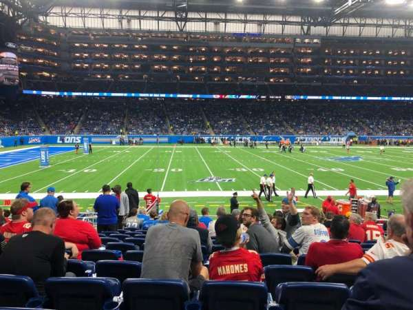 Ford Field, section: 125, rangée: 13, siège: 7
