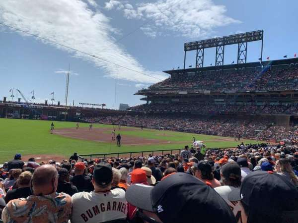 Oracle Park, section: 127, rangée: 20, siège: 15