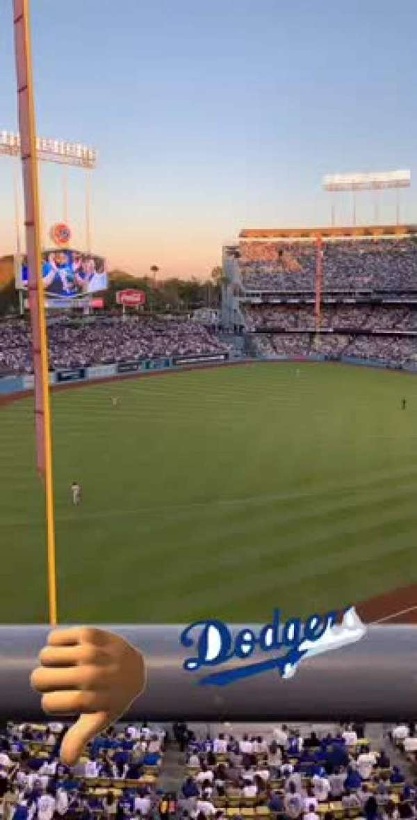 Dodger Stadium, section: 47RS, rangée: A, siège: 6