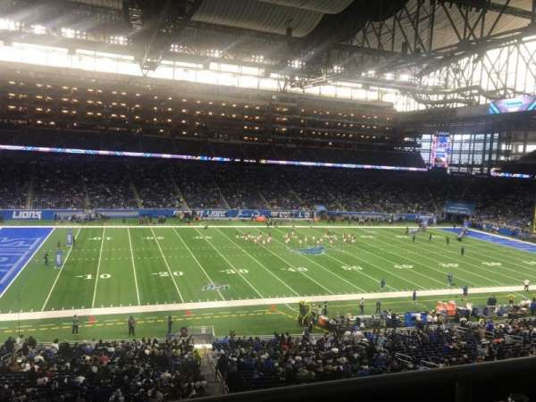 Ford Field, section: 228, rangée: 2, siège: 5