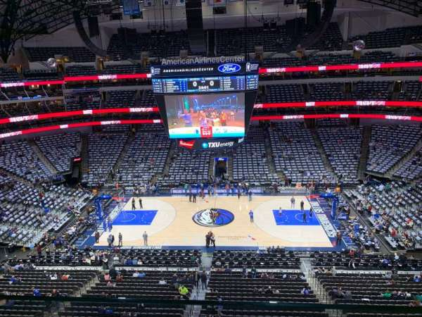American Airlines Center, section: 309, rangée: A, siège: 13