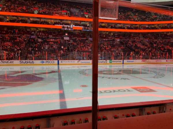 Wells Fargo Center, section: 124, rangée: 4, siège: 13