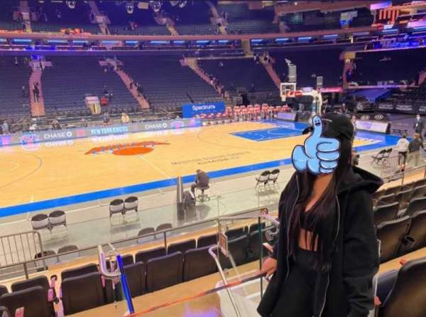 Madison Square Garden, section: 117, rangée: 6, siège: 1