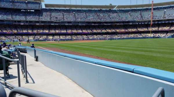 Dodger Stadium, section: 46FD, rangée: A, siège: 14